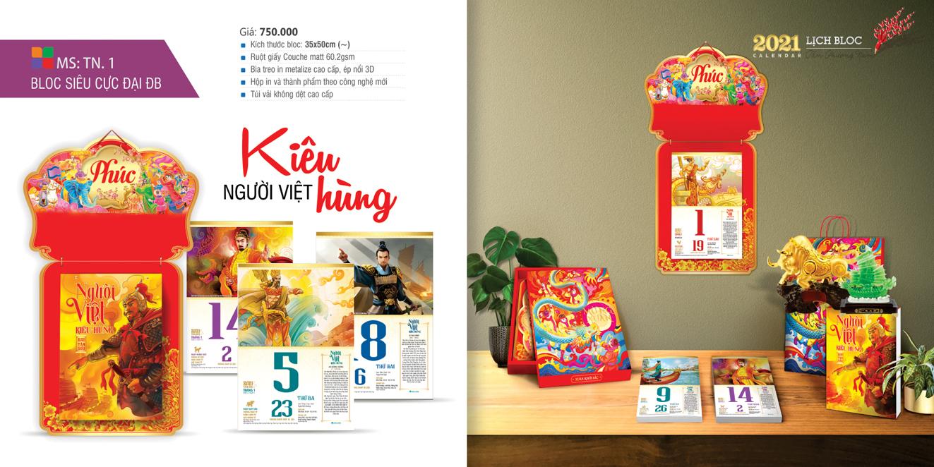 Lịch bloc siêu cực đại đặc biệt 38×53Người Việt Kiêu Hùng